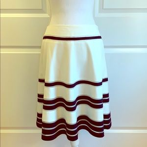 Ivory and Bkack A-Line Skirt. Retro Chic.